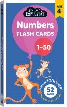 Junior Explorers: Numbers 1-50 Flash Cards (small format)