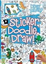 Sticker, Doodle, Draw! Blue