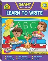 School Zone Giant Learn to Write Workbook