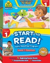 School Zone Start to Read! Level 1 Readers