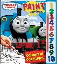 Thomas and Friends Paint by Numbers: Colourful Carriages