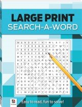 Search-a-Word 3 (blue) Large Print Puzzles Series 4