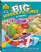 School Zone Giant Hidden Pictures and More Workbook