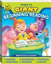 School Zone Giant Beginning Reading Workbook