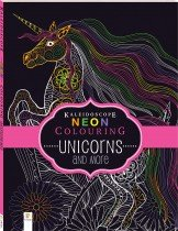 Kaleidoscope Neon Colouring Book: Unicorns and More