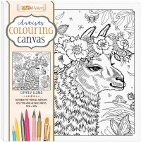 Artists' Colouring Canvas: Lovely Llama
