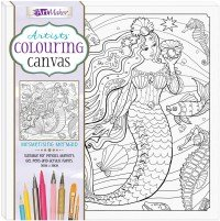 Artists' Colouring Canvas: Mesmerising Mermaid