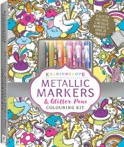Kaleidoscope Colouring Metallic Markers & Glitter Pens Colouring Kit