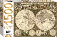 Mindbogglers Gold: Vintage World Map