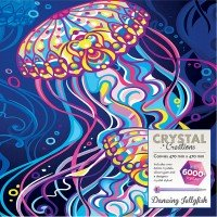 Crystal Canvas: Dancing Jelly Fish