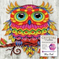 Crystal Canvas: Wise Owl
