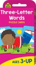 School Zone Three Letter Words Puzzle Cards