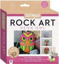 Craftmaker Rock Art: Neon Owl